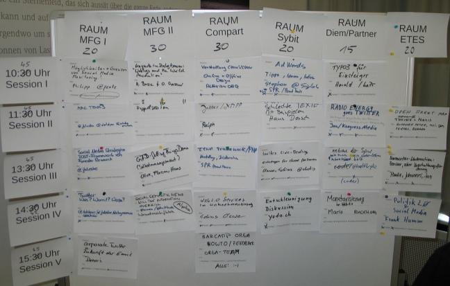 Sessionplan BarCamp Stuttgart (2008)
